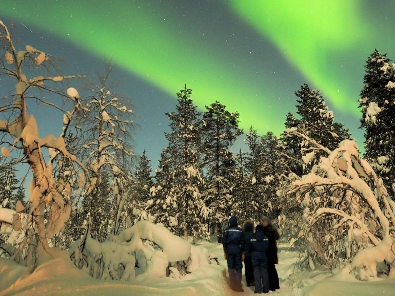 AT Nature guests are admiring the northern lights.