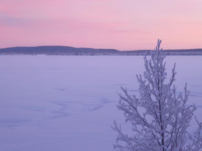 Landscape of the lake Muddus.